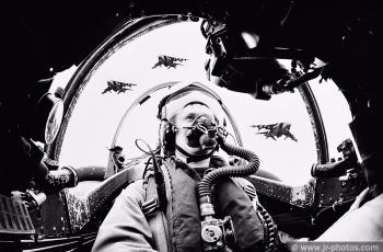 Pilot Officer Bill Auckland in Harrier GR3