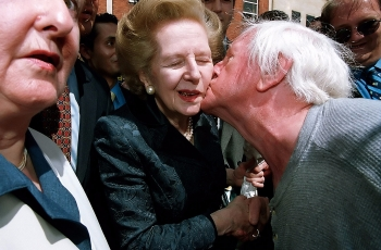A kiss for the 'Iron Lady'