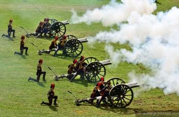 Royal Artillery gun salute