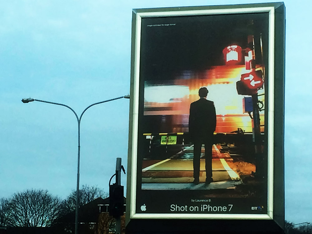 iPhone advert in Birmingham