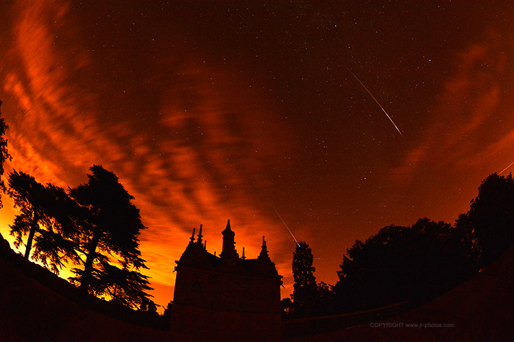Perseid meteor shower, Rushton Triangular Lodge, 2013.